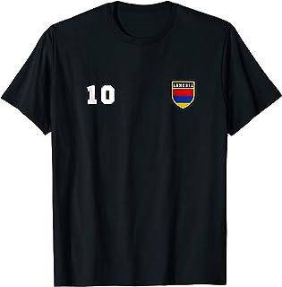 Armenia T-shirt Number 10 Soccer Tee Flag Football Yerevan