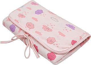 Trocador E Porta Fraldas Malhas Portátil Estampado, Papi Textil, Rosa, 66 X 40 Cm