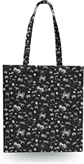 Space Ship Battle Star Wars Inspired Canvas Tote Bag - Zipper Canvas Tote Bag