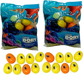 Paper Magic Sticker Filled Eggs (16 Count) for Easter Eggs Hunt, Decor, Baskets (Finding Dory)