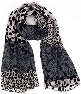 """2019 New Leopard Scarves for Women Soft Cozy Lightweight Chiffon Material 63x27"""""""