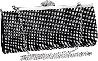 Runhuayou Ladies Even Clutch Bag Europe & America Crystal Rhinestone Small Square Bag Dress Eve Banquet Bag Great for Casual or Many Other Occasions Such (Color : Black)