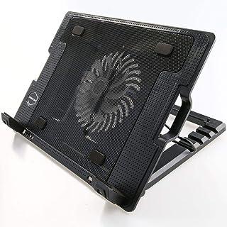 ستار، قاعدة تبريد قابلة للتعديل متوافقة مع اجهزة لاب توب نوت بوك بقياس من 9-17 انش، تحتوي على مروحة يو اس بي باضاءة ال اي ...