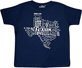inktastic Texas Word Salad- State Outline Toddler T-Shirt
