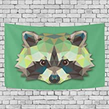 Blue Viper Triangle Raccoon Design Tapestry Wall Hanging Artistic Home Wall Décor for Living Room Bedroom Dorm Wall Décor 60 x 40 Inches