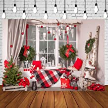 HUAYI 6.5x5ft Christmas Photo Backdrop for Pictures Photography Background Christmas Party Wall Family Children Kids Photo Booth Backdrops Photo Shoot Xt-6313