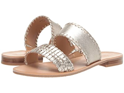 Jack Rogers Tinsley Slide (Platinum) Women
