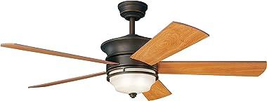 "Kichler 300114OZ, Hendrik Olde Bronze 52"" Ceiling Fan with Light & Remote Control"