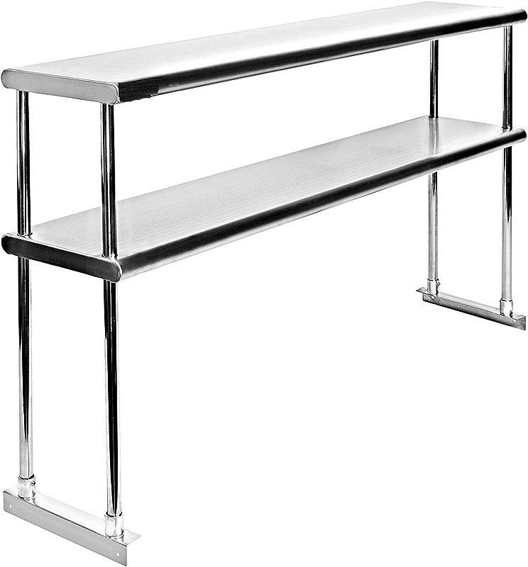 Adjustable Double Overshelf 18 X 36 Stainless Steel