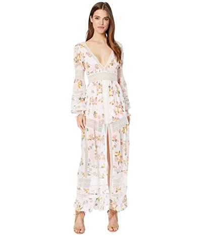 For Love and Lemons Claudette Maxi Dress (Blush) Women