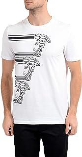 Collection Men's White Graphic Crewneck T-Shirt Sz US L IT 52