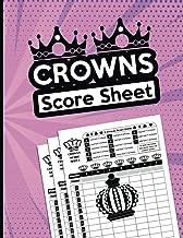 Crowns Score Sheet: 130 Large Crowns Score pads for Scorekeeping, Crowns Game Kit Book, Keeper Notebook Crowns Score Card...