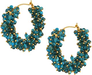 Crunchy Fashion Bollywood Stylish Traditional Indian Jewelry Meenakari Jhumka Earrings for Women