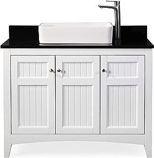 "42"" Thomasville Farmhouse White Vessel Sink Bathroom Vanity ZK-47888GT"