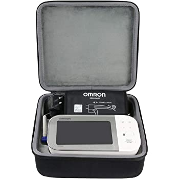 co2crea Hard Travel Case Replacement for OMRON 10 Series BP7450 BP5450 Platinum Blood Pressure Monitor Premium Upper Arm Cuff Digital Bluetooth Blood Pressure Machine (Black Case + Inner Box)