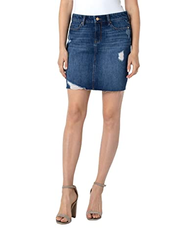 Liverpool Fray Edge Denim Skirt in Primrose (Primrose) Women