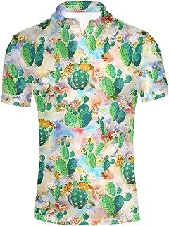Men's Polos Shirts Short Sleevee Hawaiian T-Shirt