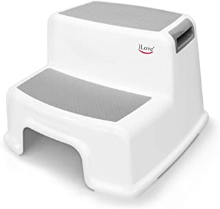 Wide+ 2 Step Stool for Kids (Pack of 1) | Toddler Stool for Toilet Potty Training | Slip Resistant Soft Grip for Safety as...