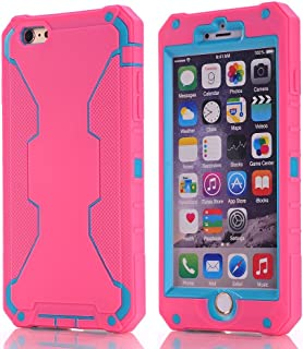 iPhone 6/6S Plus Robot Case, [Robot] [Shockproof] Soft Silicone/PC 3-in 1 Phone Case For iPhone 6/6S Plus + Screen Protector