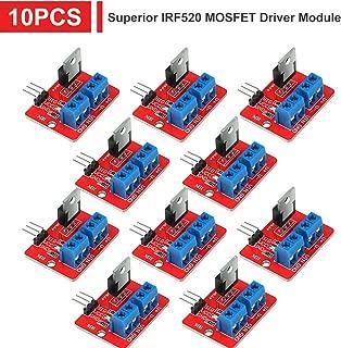 MakerHawk 10pcs Superior IRF520 MOSFET Driver Module PWM Output 0-24V 5A for Arduino MCU ARM Raspberry Pi