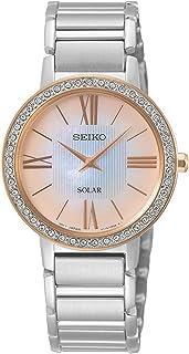 Seiko ladies reloj para Mujer Analógico de Solar con brazalete de Acero inoxidable SUP432P1