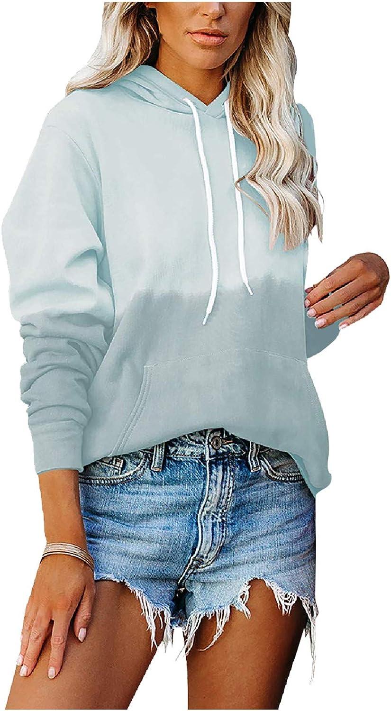 Max 65% OFF shop Tie-Dye Sweatshirt for Women Casual Block Color Drawstring Hoodi