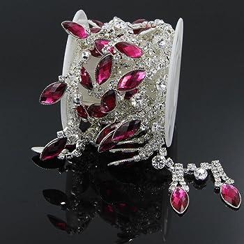 Pb 10 un Diamante Perla Botones De Cristal Facetado Diamante Plata Rhinestone