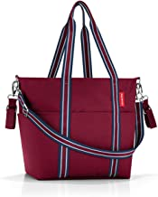 reisenthel Baby Organizer Diaper Tote with Crossbody Strap, Unisex Carryall with Changing Pad, Bottle Holder and Removable Drawstring Sack, Dark Ruby