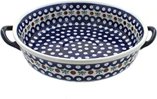 Polish Pottery Nature Round Casserole with Handles