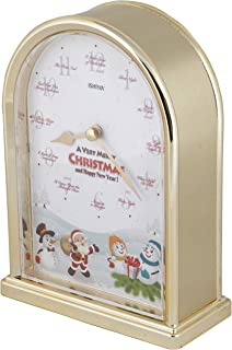 JUSTIME Christmas Festival 12 Song of Christmas Carols Table Mantel Clock Home Deco, Great for Gift (Brushed Gold)