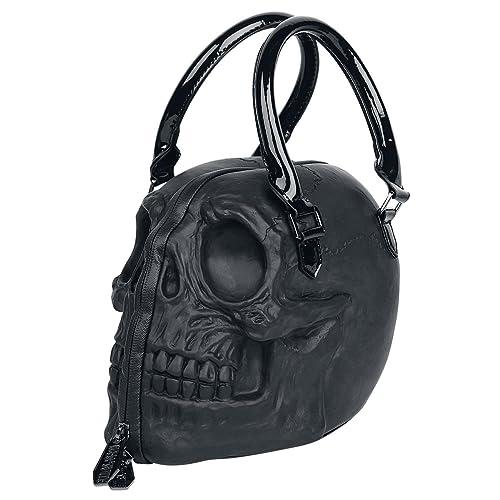 6668d317dc Black Skull Purse Goth Chic Style Kreepsville Latex Bowler Bag Halloween  Handbag