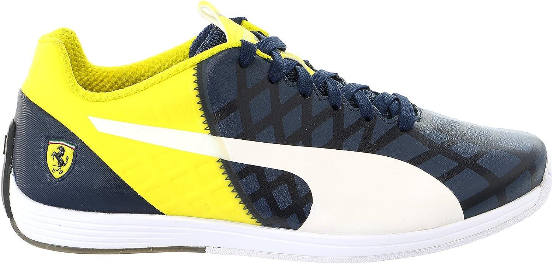 PUMA Evospeed 1.4 Scuderia Ferrari Fashion Sneaker shoes - Dress bluees White Vibrant Yellow - Mens - 10