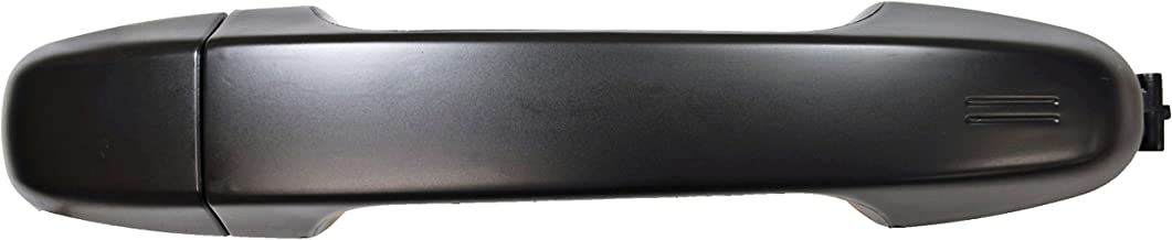 PT Auto Warehouse TO-3301S-FRK - Outside Exterior Outer Door Handle, Smooth Black - without Keyhole, Passenger Side Front