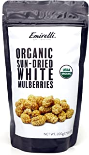 Emirelli Turkish Sun-Dried Mulberries - Delicious Gluten Free Non GMO Vegan Snacks - No Sugar Added - Sunny Fruits, Packed...