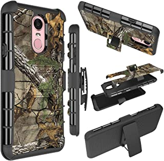 LG Stylo 4 Case,LG Q Stylus Phone Cases, Ueokeird Heavy Duty Armor Shock Proof Dual Layer Swivel Belt Clip Holster Kickstand Combo Case Cover for LG Stylo 4 (camo)