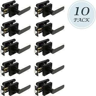 Premium Matte Black Finish Knob Passage Heavy Duty Door Handle Set Durable Door Hardware, Door Handles for Left/Right Handing, Passage Door Handle 10 Pack 1.61 lb One Lever