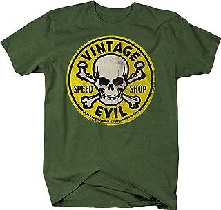 Top-T Vintage Evil Speed Shop Skull Mens Cotton T Shirt