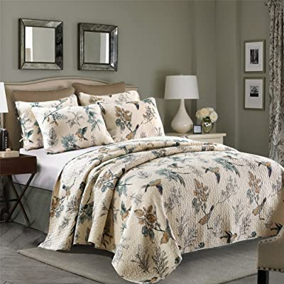Aivedo Quilt Set Flying Birds Printing 100% Cot...