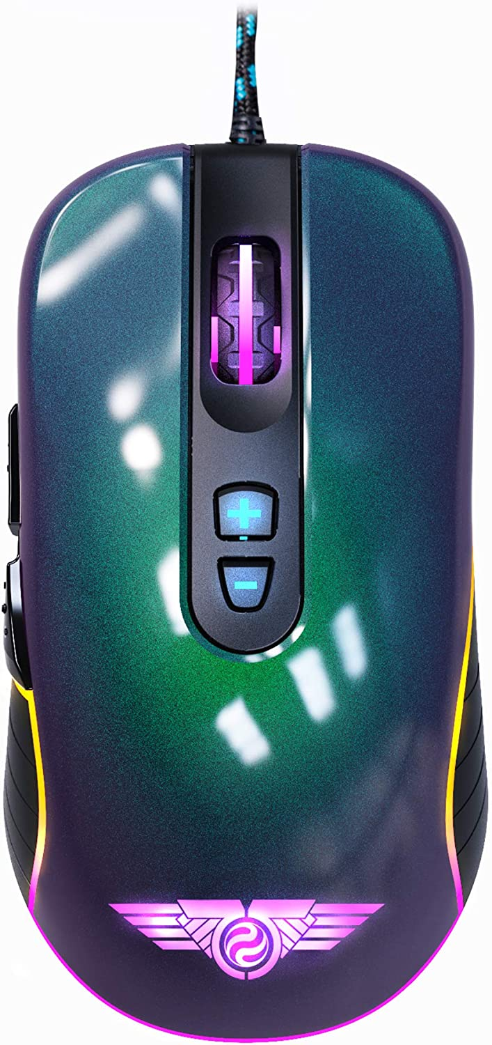 NEWMEN GX6-Pro Wired Gaming Mouse Optical Sensor 7200 DPI up Soldering to Dealing full price reduction