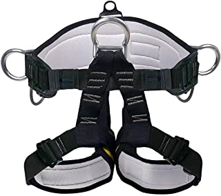 X XBEN Climbing Harness, Mountaineering Rock Climbing Harness, Protect Waist Safety Harness, Wider Half Body Harness for M...