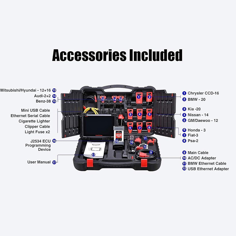 Scanner diagnostico bidirezionale per vetture Sistema Completo di diagnostica con Programmazione Maxi VCI Wireless ECU Autel MaxiCOM