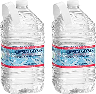 Crystal Geyser, Purified Water, 1 Gallon Bottle (Pack of 2, Total of 256 Fl Oz)