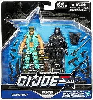 G.I. Joe, 50th Anniversary Marine Devistation Action Figure Set [Gung-Ho and Cobra Shadow Guard], 3.75 Inches