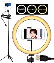 """10"""" Selfie LED Ring Light with Tripod Stand &Cell Phone Holder Desktop Lamp Mini Led Camera Light for YouTube Video and Live Makeup/Photography"""
