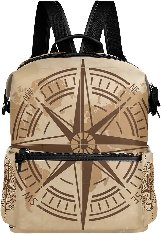 LORVIES Compass School Rucksack Travel Backpack