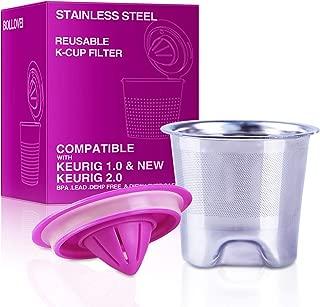 Refillable and Reusable Stainless Steel Mesh K-Cups Coffee Filters Replacement for Keurig 2.0 - K200, K300, K400, K500 Series and Original Keurig 1.0 Brewers
