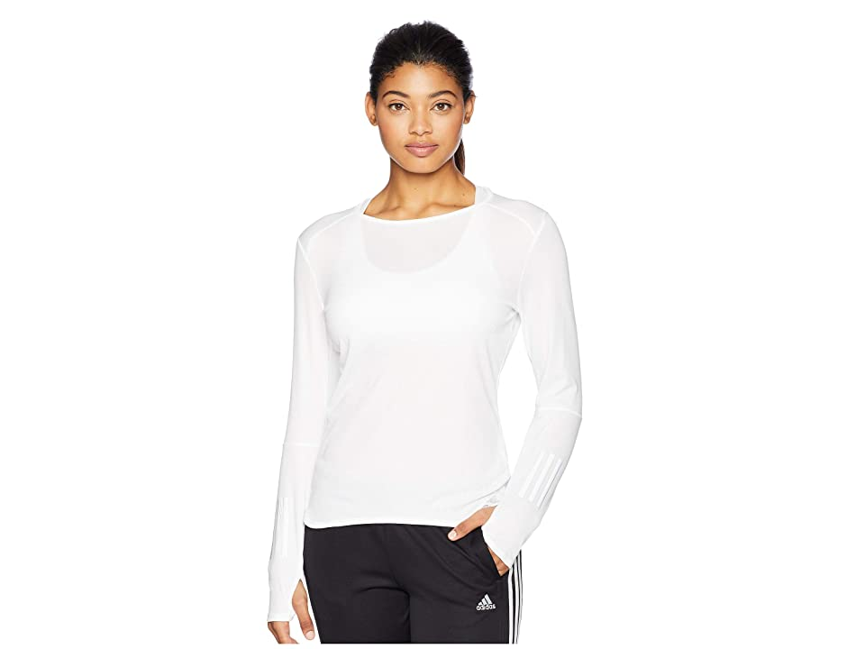 adidas Response Long Sleeve Tee (White) Women