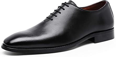 DESAI DOLCARA Men's Genuine Leather Oxford Dress Shoes for Men Classic Formal Business lace up Mens Dress Shoes