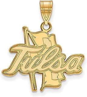 14k Yellow Gold University of Tulsa Golden Hurricane School Mascot Pendant