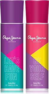 Pepe Jeans London Let's Have Fun Be Your Self Women Body Mist 150ml (Pack Of 2)